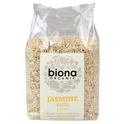 Biona Organic Wholegrain Jasmine Rice - Roots Fruits & Flowers Glasgow