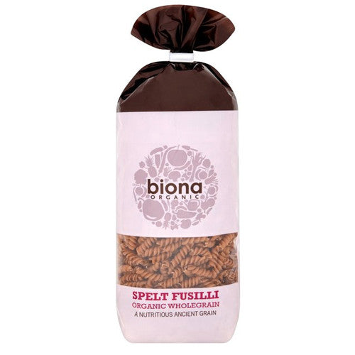 Biona Organic Wholegrain Spelt Fusilli - Roots Fruits & Flowers Glasgow