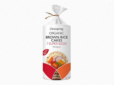 Clearspring 7 Super Seeds Brown Rice Cakes