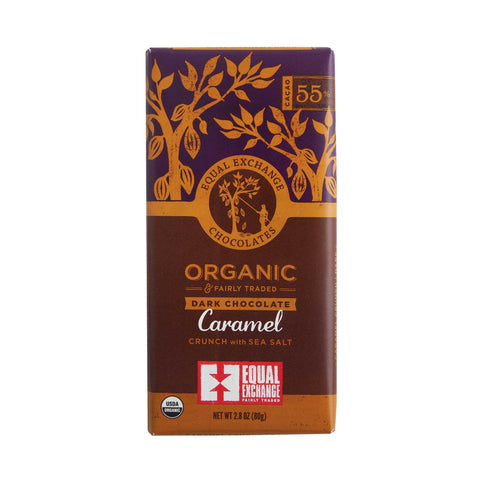 Equal Exchange Dark Chocolate Caramel Crunch 100g
