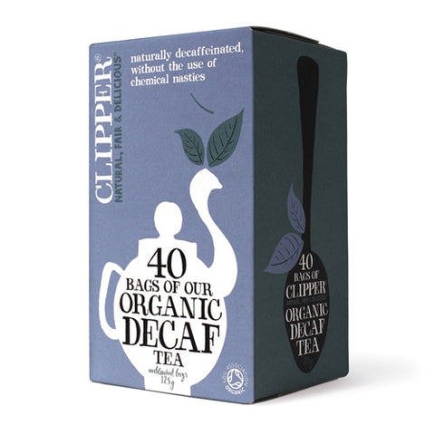 Clipper Organic Decaf Tea 40 bags - Roots Fruits & Flowers Glasgow
