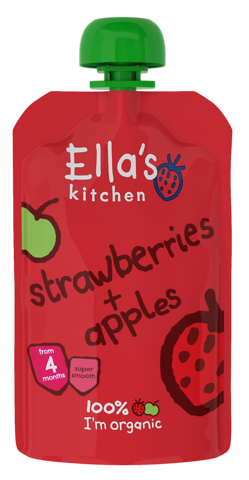 Ella's Kitchen Strawberries + Apples
