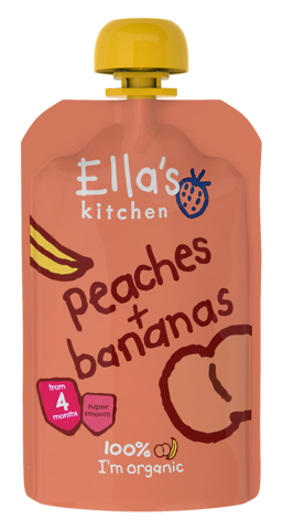 Ella's Kitchen Peaches + Bananas