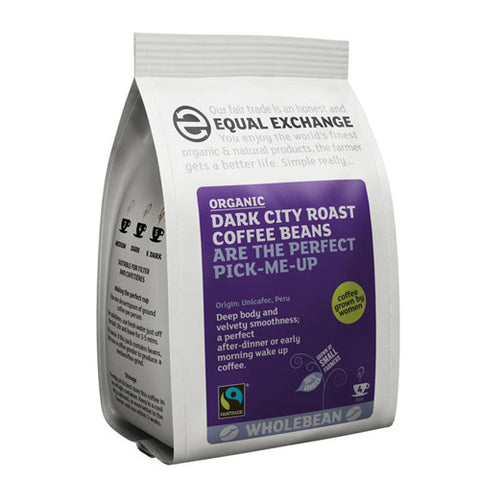 Equal Exchange Dark City Roast Coffee Beans - Roots Fruits & Flowers Glasgow