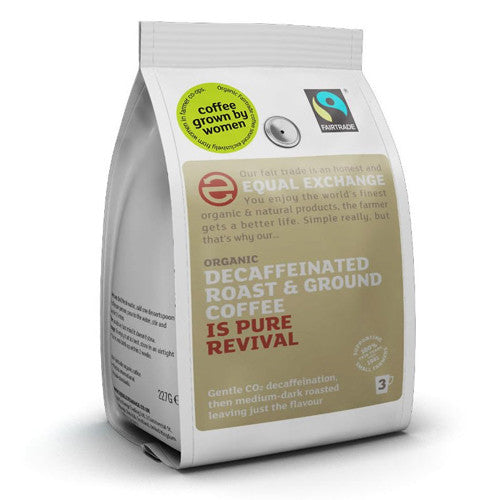 Equal Exchange Decaffeinated Ground Coffee - Roots Fruits & Flowers Glasgow