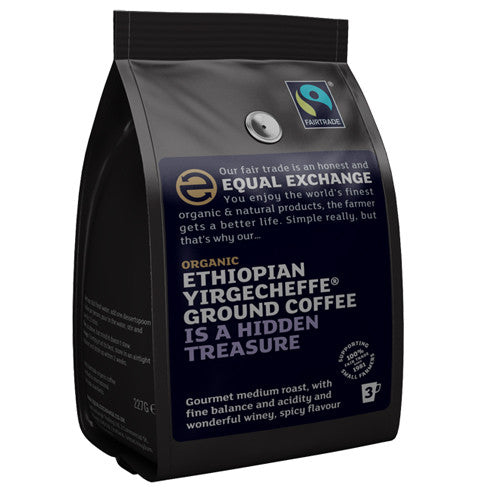 Equal Exchange Ethiopian Yirgecheffe Ground Coffee - Roots Fruits & Flowers Glasgow