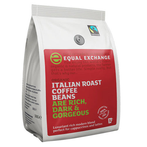 Equal Exchange Italian Roast Coffee Beans - Roots Fruits & Flowers Glasgow