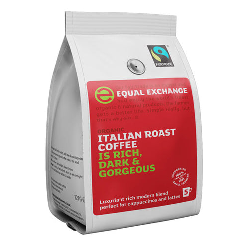 Equal Exchange Italian Roast Ground Coffee - Roots Fruits & Flowers Glasgow