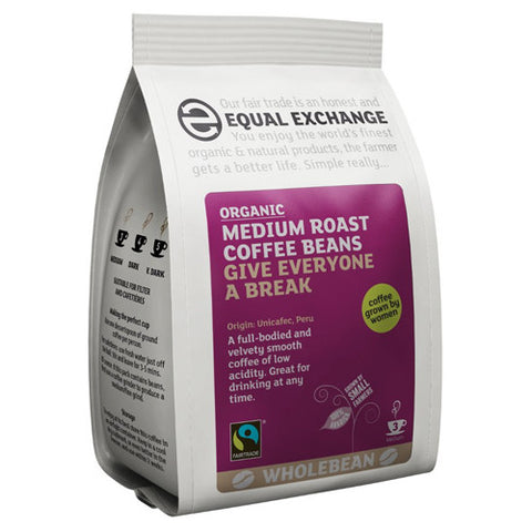 Equal Exchange Medium Roast Coffee Beans - Roots Fruits & Flowers Glasgow