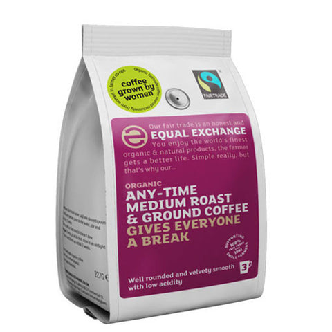 Equal Exchange Medium Roast Ground Coffee - Roots Fruits & Flowers Glasgow