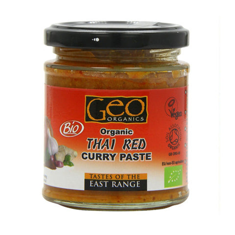 Geo Organic Thai Red Curry Paste - Roots Fruits & Flowers Glasgow
