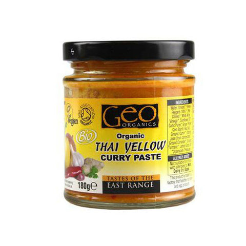 Geo Organic Thai Yellow Curry Paste - Roots Fruits & Flowers Glasgow