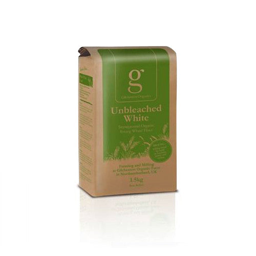 Gilchesters Organics Unbleached White Flour - Roots Fruits & Flowers Glasgow