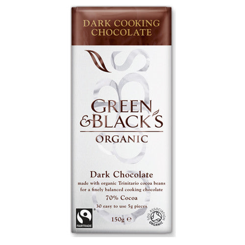 Green & Blacks Organic Dark Cooking Chocolate - Roots Fruits & Flowers Glasgow