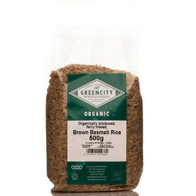 GreenCity Organic Brown Basmati Rice - Roots Fruits & Flowers Glasgow