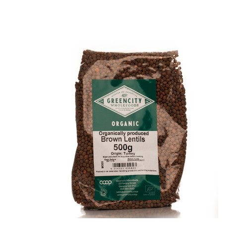 GreenCity Organic Brown Lentils - Roots Fruits & Flowers Glasgow