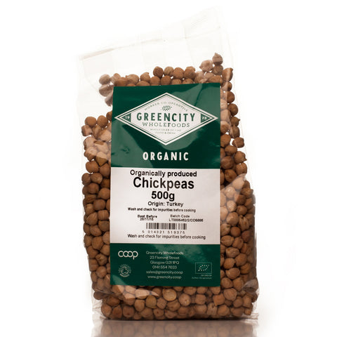 GreenCity Organic Chickpeas - Roots Fruits & Flowers Glasgow