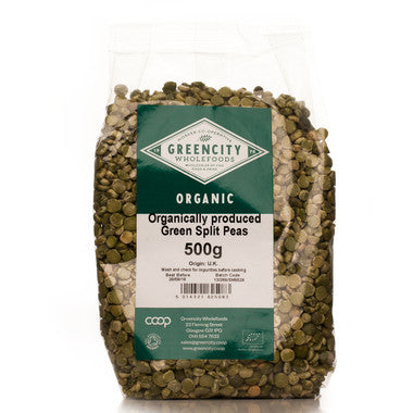 GreenCity Organic Green Split Peas - Roots Fruits & Flowers Glasgow