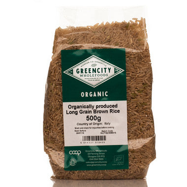 GreenCity Organic Long Grain Brown Rice - Roots Fruits & Flowers Glasgow