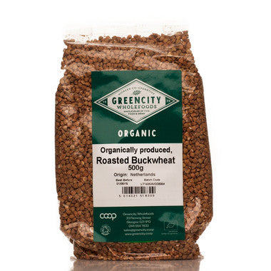 GreenCity Organic Roasted Buckwheat - Roots Fruits & Flowers Glasgow