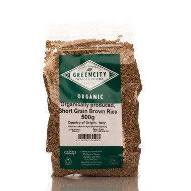 GreenCity Organic Short Grain Brown Rice - Roots Fruits & Flowers Glasgow