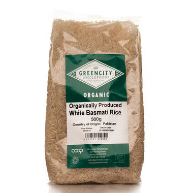 GreenCity Organic White Basmati - Roots Fruits & Flowers Glasgow - 1