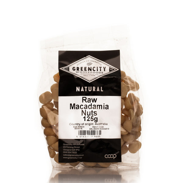 GreenCity Raw Macadamias - Roots Fruits & Flowers Glasgow