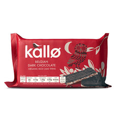 Kallø Dark Chocolate Rice Cake Thins - Roots Fruits & Flowers Glasgow