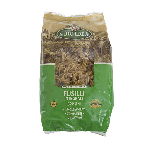 La Bio Idea Organic Whole Wheat Fusilli - Roots Fruits & Flowers Glasgow