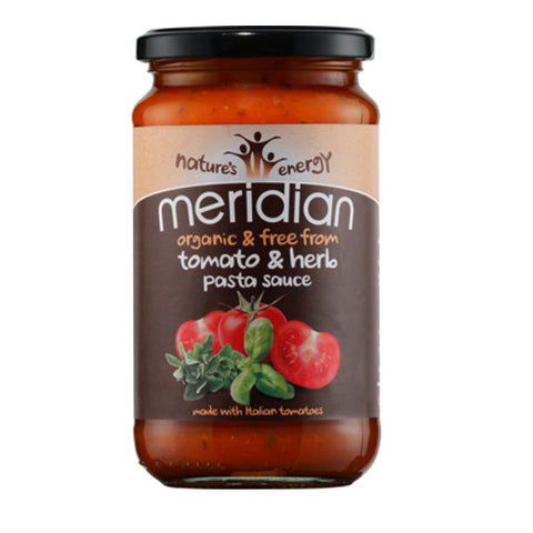 Meridian Organic Tomato & Herb Pasta Sauce - Roots Fruits & Flowers Glasgow