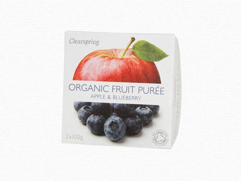 Clearspring Organic Apple & Blueberry Purée
