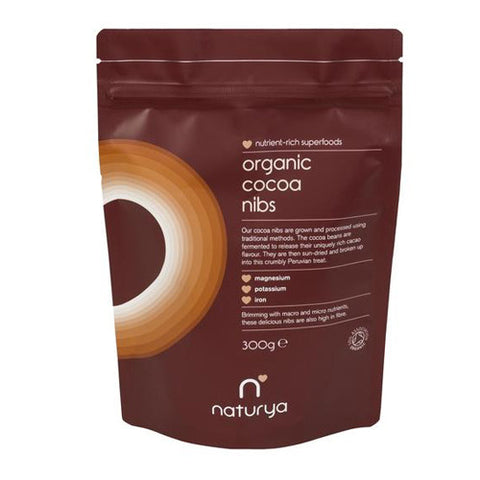 Naturya Organic Cocoa Nibs - Roots Fruits & Flowers Glasgow