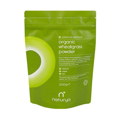 Naturya Organic Wheatgrass Powder - Roots Fruits & Flowers Glasgow