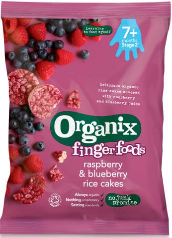 Organix Raspberry & Blueberry Rice Cakes - Roots Fruits & Flowers Glasgow