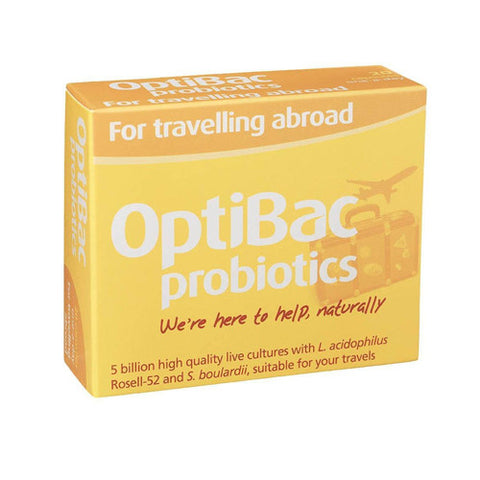 Optibac Probiotics 'For Travelling Abroad' - Roots Fruits & Flowers Glasgow