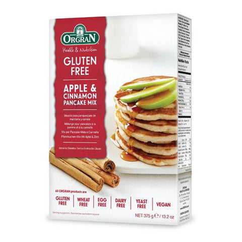 Orgran Gluten Free Apple & Cinnamon Pancake Mix - Roots Fruits & Flowers Glasgow