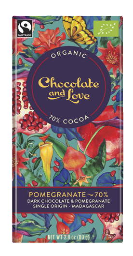 Chocolate and Love Pomegranate 70% Dark