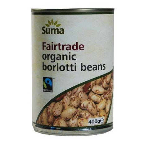 Suma Organic Borlotti Beans - Roots Fruits & Flowers Glasgow