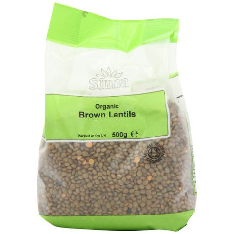 Suma Organic Brown Lentils - Roots Fruits & Flowers Glasgow