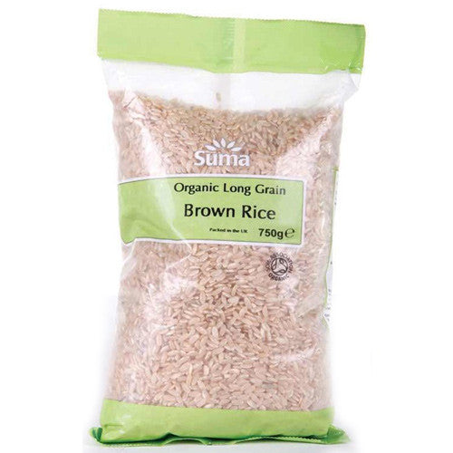 Suma Organic Long Grain Brown Rice - Roots Fruits & Flowers Glasgow