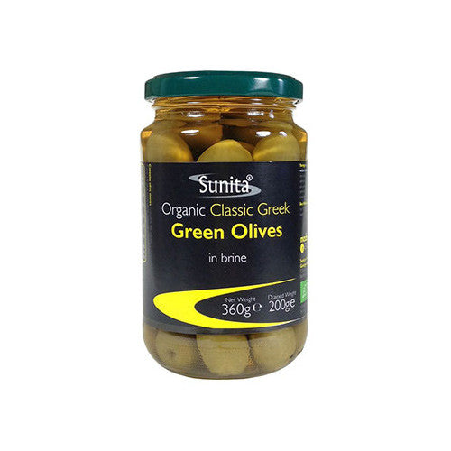 Sunita Organic Green Olives - Roots Fruits & Flowers Glasgow