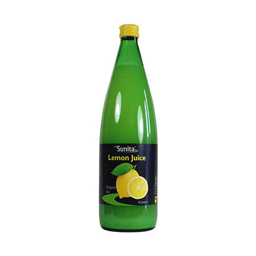 Sunita Organic Lemon Juice 250ml - Roots Fruits & Flowers Glasgow