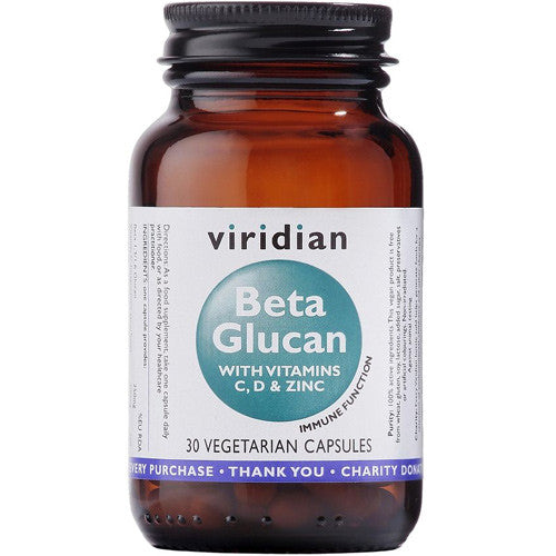 Viridian Beta Glucan with Vitamins C, D & Zinc - Roots Fruits & Flowers Glasgow