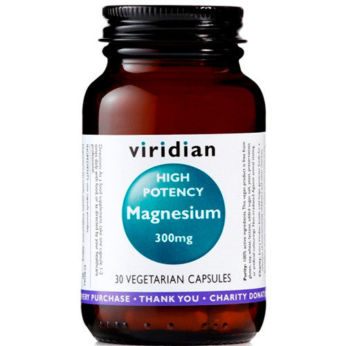 Viridian High Potency Magnesium 300mg - Roots Fruits & Flowers Glasgow
