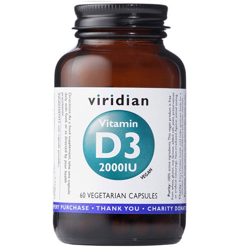 Viridian Vitamin D3 2000iu - Roots Fruits & Flowers Glasgow