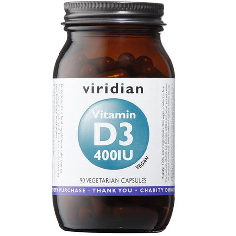 Viridian Vitamin D3 400iu - Roots Fruits & Flowers Glasgow