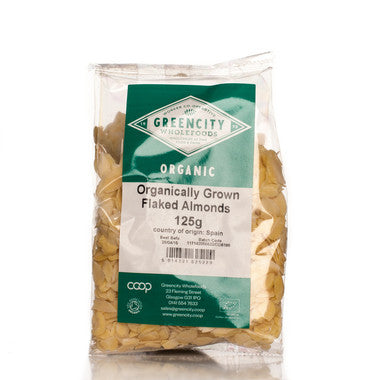 GreenCity Organic Flaked Almonds - Roots Fruits & Flowers Glasgow