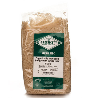 GreenCity Organic Long Grain White Rice - Roots Fruits & Flowers Glasgow