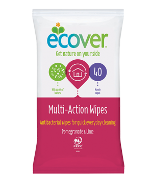 Ecover Antibacterial Multi Action Wipes - Roots Fruits & Flowers Glasgow