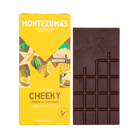 Montezuma's Cheeky Lemon & Coconut Dark Chocolate